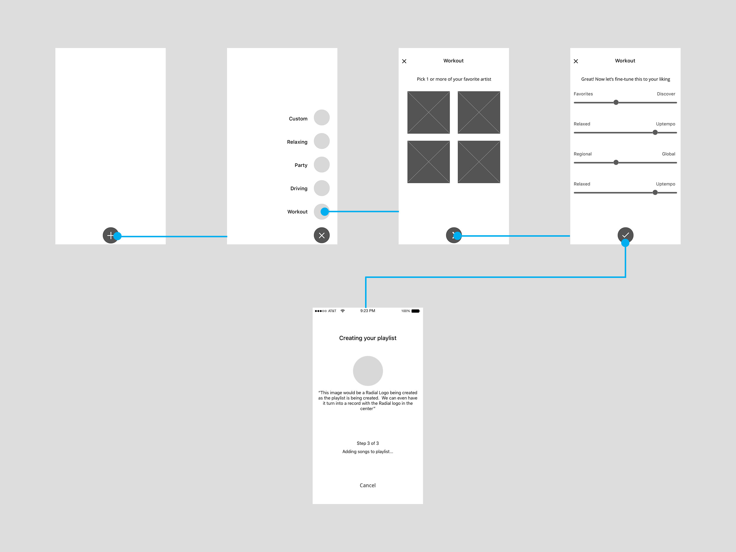 Playlist Wireframes
