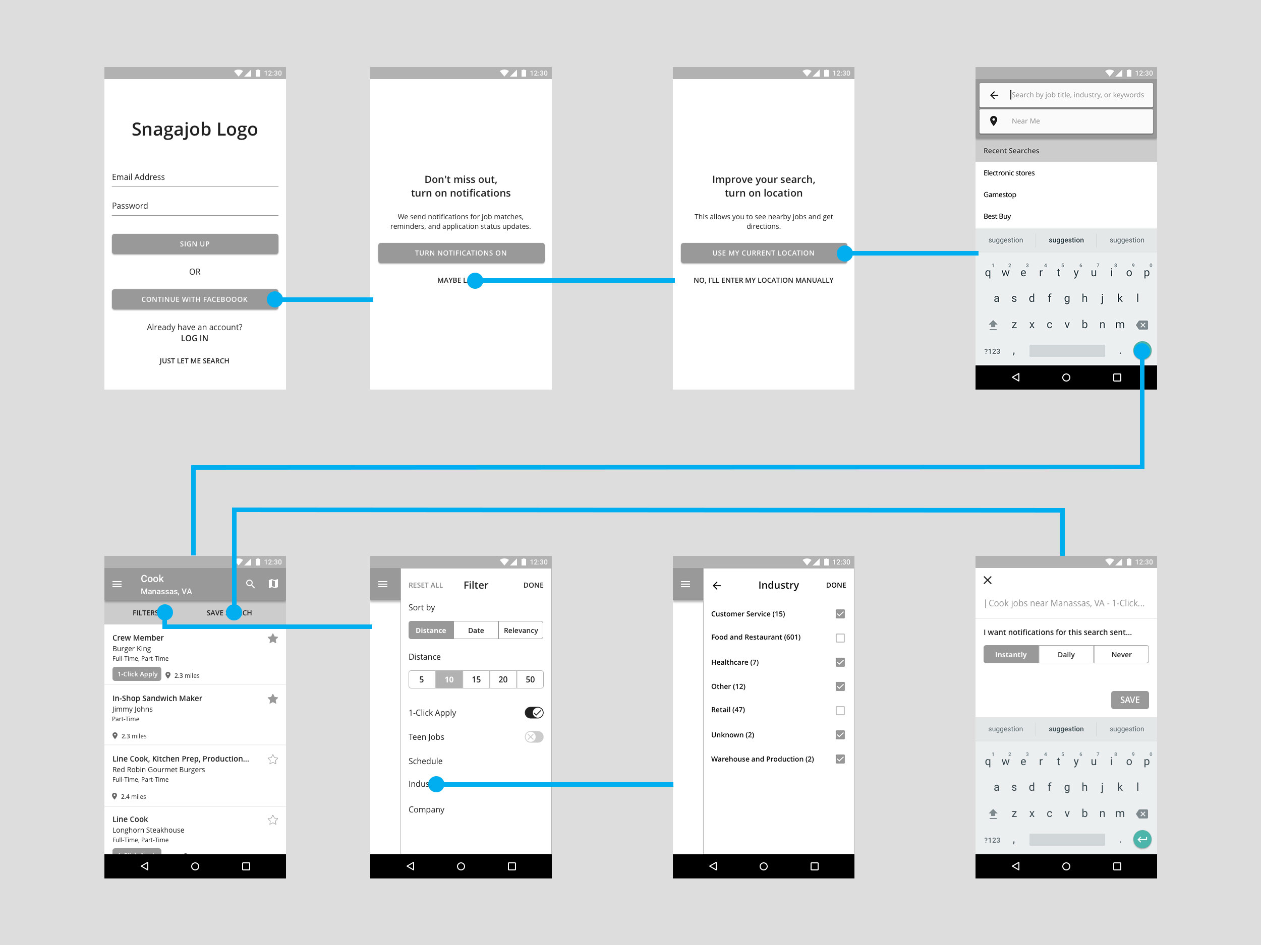 Snagajob Search Wireframes V3